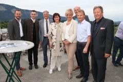v. links: BGM Hecher, BGM Altersberger, LH Peter Kaiser, Vbgm. Oberrauner, Karin Bernhard, Hartlieb ist GR in Villach, Michael Grafenauer  (Geschäftsführer Terra Mystica), BGM Kessler
