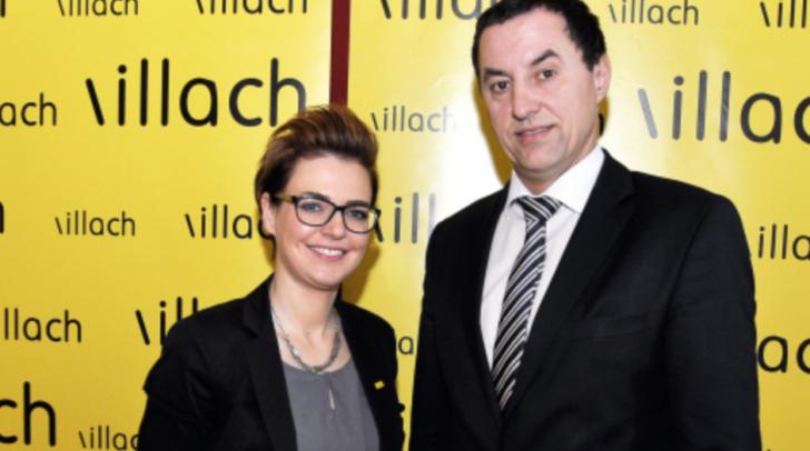 Über die Vorhaben des Tourismusverbandes Villach informieren Stadträtin Katharina Spanring und TVB-Vorstandssprecher René Sulzberger