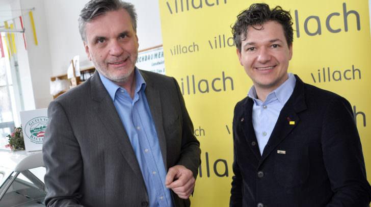 Stadtrat Peter Weidinger (rechts) und Marktamtsleiter Otmar Felsberger präsentierten das umfangreiche Programm