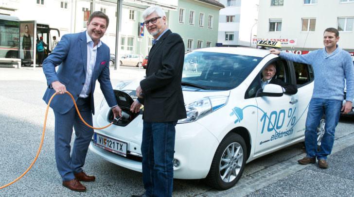 Begeisterung nach einer Probefahrt mit Villachs erstem E-Taxi