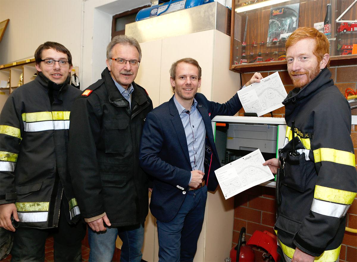 Alarmdrucker für die Freiwillige Feuerwehr Perau