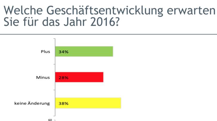 Ein Drittel (34 %) glauben, dass sich die Geschäfte heuer positiver entwickeln könnten