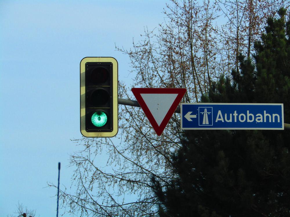 Autobahn Vorrang Ampel