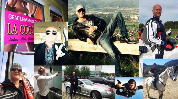Schnelle Autos, Fallschirmspringen, Reiten, Skifahren und vieles mehr – Kohlweiss ist auch bei seinen Hobbies jemand der gerne polarisiert – auf seiner Facebook-Page legt er viel Privates offen