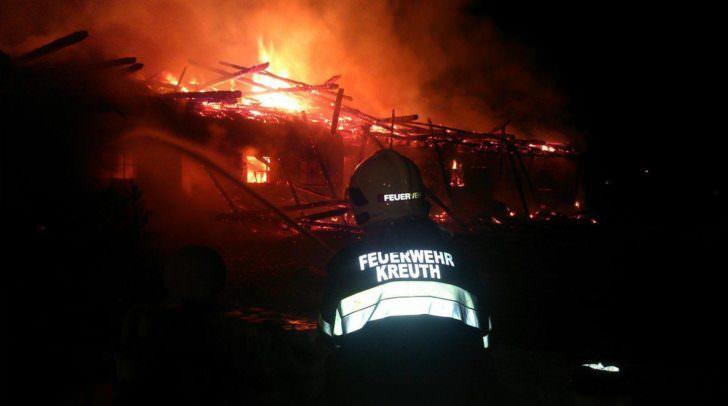 Brandgefährlicher Einsatz für die freiwilligen Feuerwehrmänner