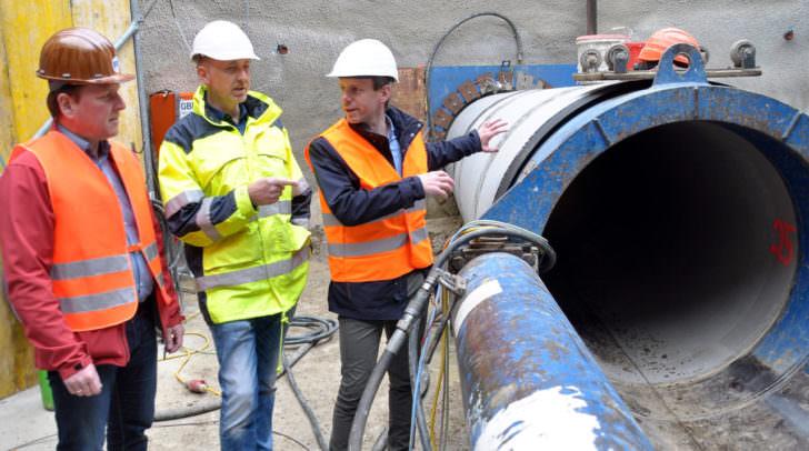 Lokalaugenschein – Baureferent Stadtrat Andreas Sucher im Gespräch mit Baufachleuten