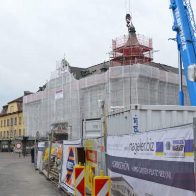 Auch bei der Bank Austria wird die Fassade umgestaltet