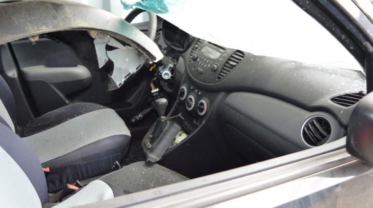 Autounfall auf der Landskroner Straße in Villach (Symbolfoto)