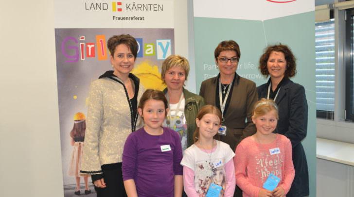 LHStv.in Prettner, Herlitschka, Slamanig und Erlach starteten mit den jungen Technikerinnen den Girls Day in Villach