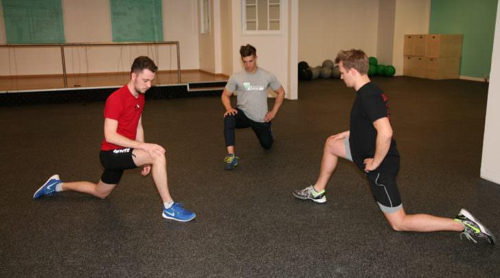 5 Minuten Gewinner Thomas Grafenau (rechts) mit CrossFit-Mitglied Benjamin Moser (links) der ebenfalls in der CrossFit Box trainiert.