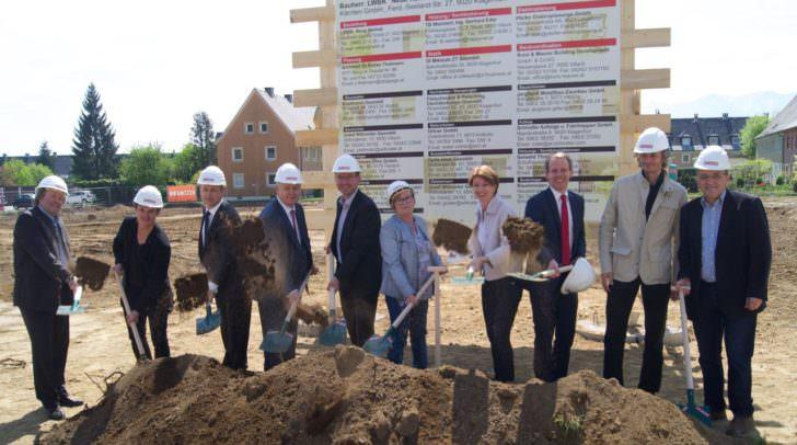 Spatenstich in der Kanaltalersiedlung, Ramserweg 39, wo im Rahmen eines Recostructing-Projektes moderne und vor allem auch leistbare Wohnungen entstehen werden.