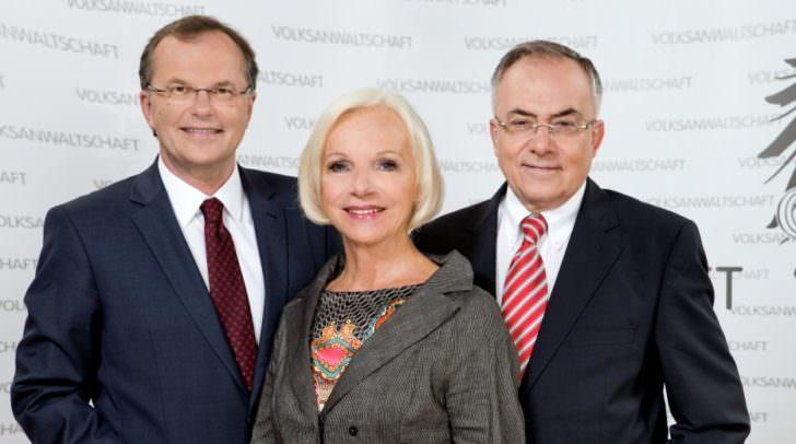 v.l.: Volksanwalt Dr. Günther Kräuter, Volksanwältin Dr. Gertrude Brinek und Volksanwalt Dr. Peter Fichtenbauer