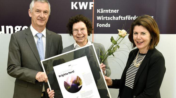 KWF-Vorstand Dr. Erhard Juritsch, Brigitte Pertl, Mag. Sandra Venus