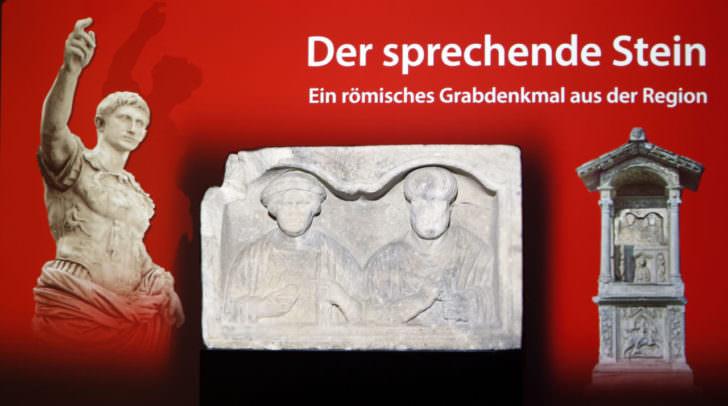 Der sprechende Grabstein vermittelt römische Geschichte auf spannende und moderne Weise