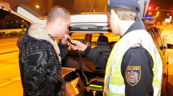 1,9 Promille war der gemesse Alkohol-Höchstwert in Villach.