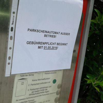 ... und damit keine Einnahme für die Parkraumbewirtschaftung.