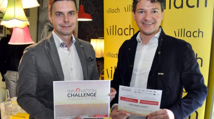 """Präsentierten die """"Innovation Challenge"""": Villachs Gewerbereferent Stadtrat Mag. Peter Weidinger und Projektleiter Ing. Marc Gfrerer."""