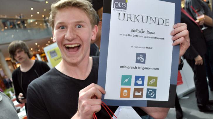 Es gab Urkunden für die Teilnehmer des Wettbewerbes