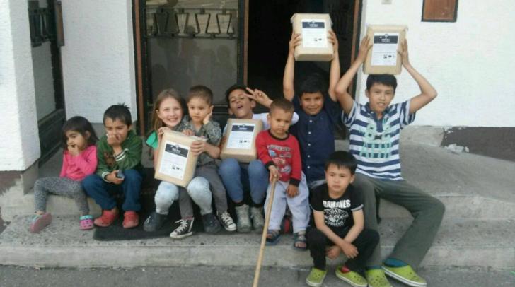 Die ersten Reis-Säcke wurden kürzlich nach St. Egyden gebracht und dies hat das eine oder andere Lächeln in  die Gesichter gezaubert