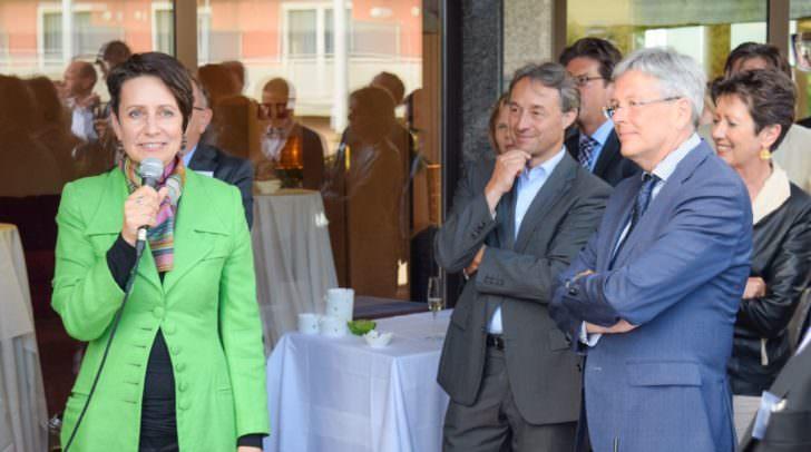Die Vorstandsvorsitzende der Infineon Austira Dipl. Ing. Dr. Sabine Herlitschka bei der Auftaktveranstaltung in Pörtschach