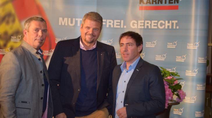 Team Kärnten IG-Obmann LAbg. Hartmut Prasch, Landesrat Gerhard Köfer und Team Kärnten-Obmann Gerhard Klocker (v.l.n.r.)
