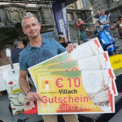 Alex Höher, der Gewinner von € 100,- Villach Gutscheinen