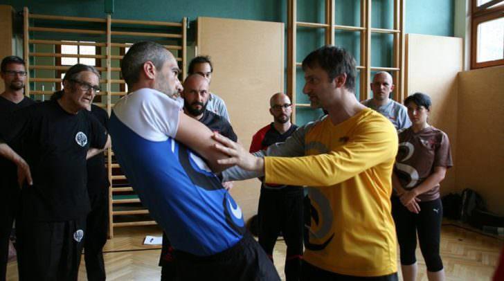 Sifu Sergio lehrt den waffenlosen Kampfstil