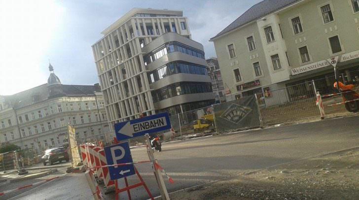 """Das ehemalige Kastner&Öhler-Haus ist Geschichte. Hier entsteht das einzigartige, neue Bauwerk """"HGP9""""."""