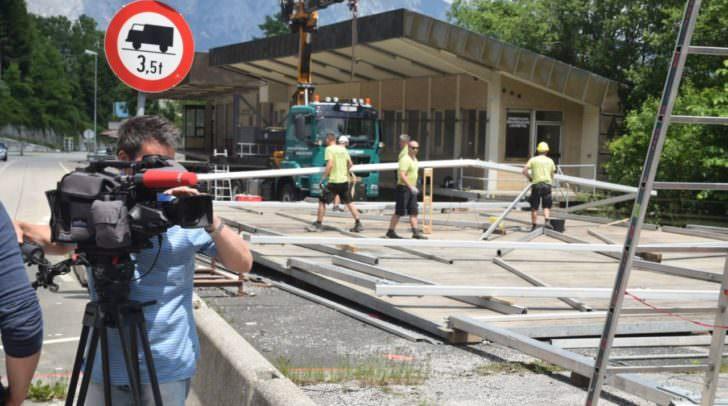 Montag, 6. Juni 2016 wurde bereits das Grenzmanagement installiert
