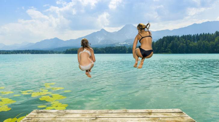 Der Sprung in einen der schönen Seen in unserer Region wirkt wahre Wunder gegen die anhaltende Hitze oder auch nicht?