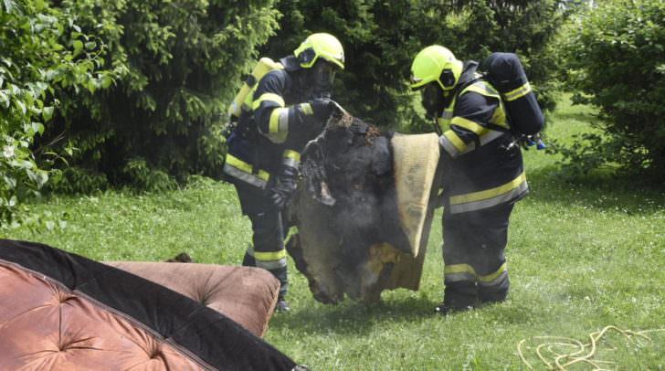 Kellerbrand im Stadtteil Fellach