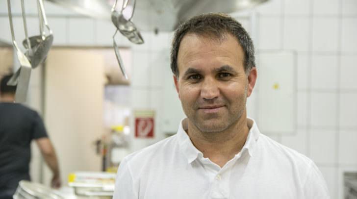 """""""Mimmo"""", Inhaber der Pizzeria Primavera"""