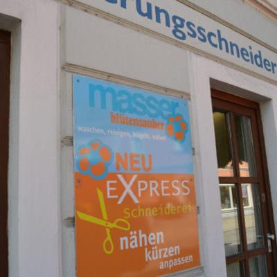 In allen Masser-Filialen wird eine Express-Schneiderei angeboten – schnell und zuverlässig