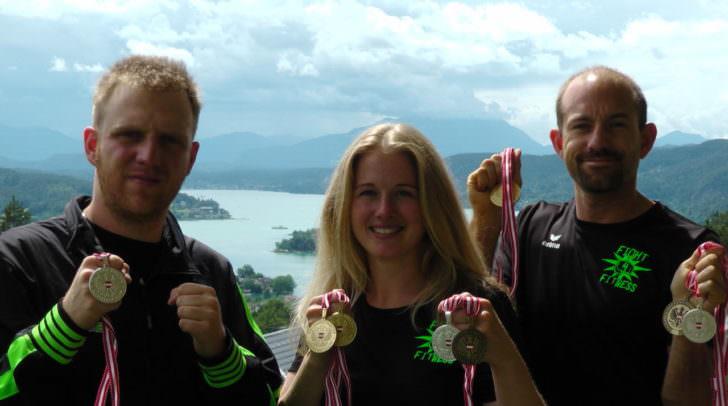 Wettkampf-Team ASKÖ Fight4Fitness (v. l. Lukas Altenhuber, Sandra Binz, Bernhard Hudelist)