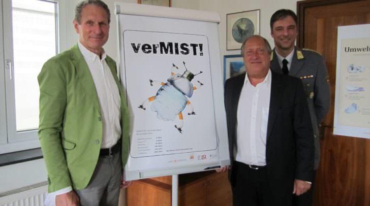 Rudolf Altersberger (LSR-Präsident), LR Rolf Holub und Johannes Leitner (Landesleiter der Bergwacht)