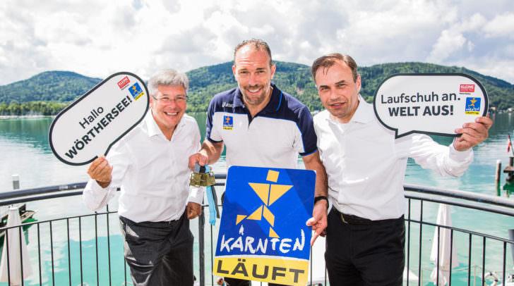 LH Peter Kaiser, Kleine Zeitung-Marketingchef Michael Kummerer und Raiffeisen-Vorstandssprecher Peter Gauper