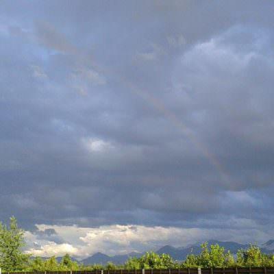 """""""Ein Regenbogen"""",  immerhin."""