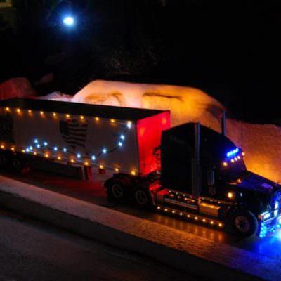 Egal ob Bagger, LKW oder Truck, alles wurde detailgetreu gebaut