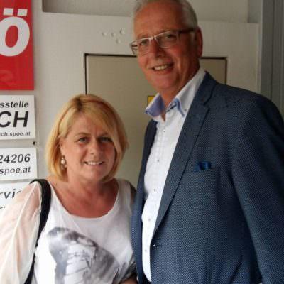 Zweite Vizebürgermeisterin Mag.a Gerda Sandriesser (SPÖ) und Ing. Reinhart Rohr