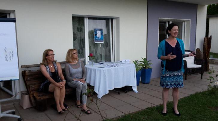 v.l. Angelika Preston, Eva Spadinger (Autorinnen), Kristina Waltritsch (CoachingPartner)