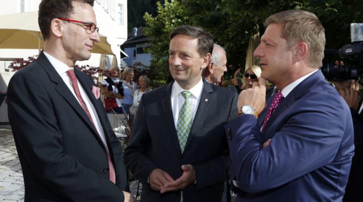 Intendant Holger Bleck, LR Christian Benger und Bgm. Guenther Albel