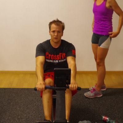 Die Ruder-Europameisterin trainiert mit den Sportlern