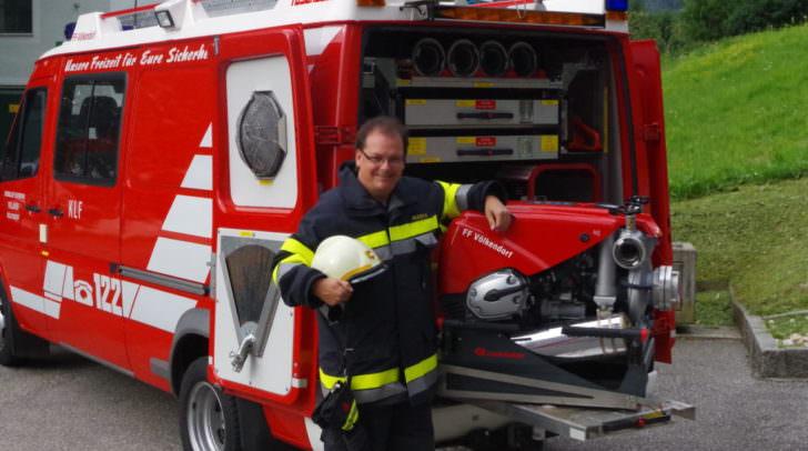 Spontan muss er auch bei der Freiwilligen Feuerwehr sein