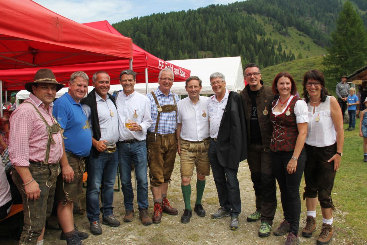 u.a. LH Kaiser, LR Darmann, LR Benger und LT-Präs. Rohr beim Almfest auf der Kalchtratte