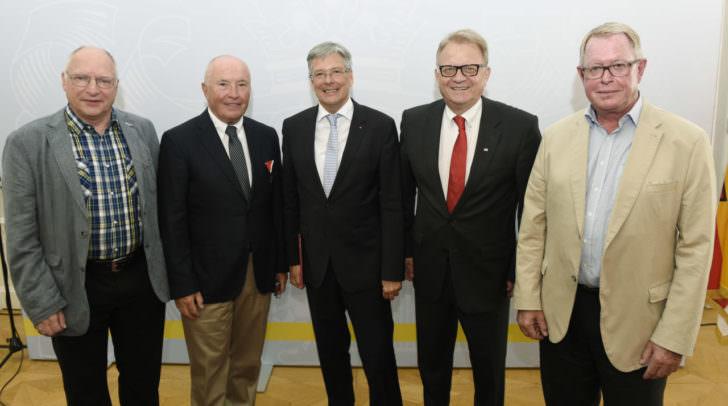 LH Dr. Peter Kaiser mitGunther Spath, Reinhard Sladko, Peter Ambrosy und Christof Zernatto