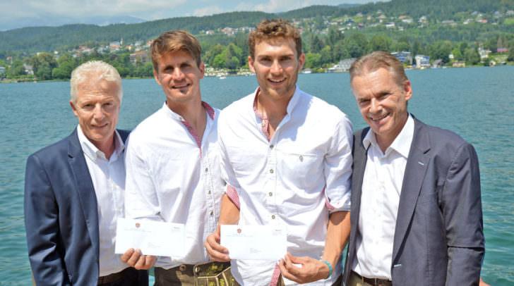 Verabschiedung zu Olympia für Niko Resch und Robin Seidl