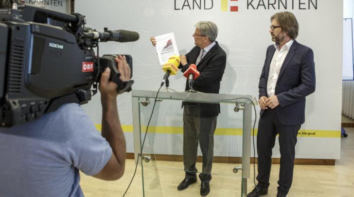 Pressekonferenz mit LH Peter Kaiser