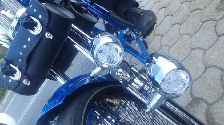 Was ist denn das? Eine Harley?