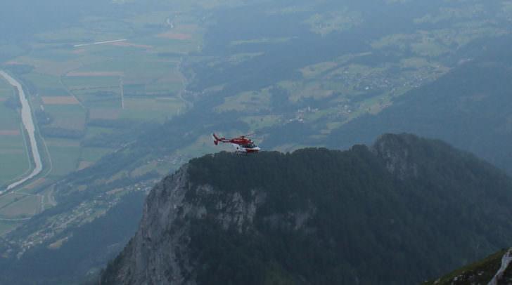 Der Einsatz des Helikopters wurde von einer Webcam festgehalten
