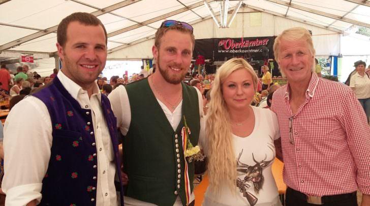Bgm. Christian Hecher, Zechmeister Chriostph Hausmann mit Freundin Jasmin Pöck, LAbg. Ing. Manfred Ebner (SPÖ)
